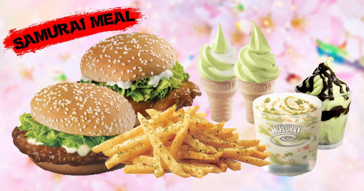 McDonalds goes Japanese with Seaweed Shaker Fries, Samurai Burgers & matcha Ice-cream today