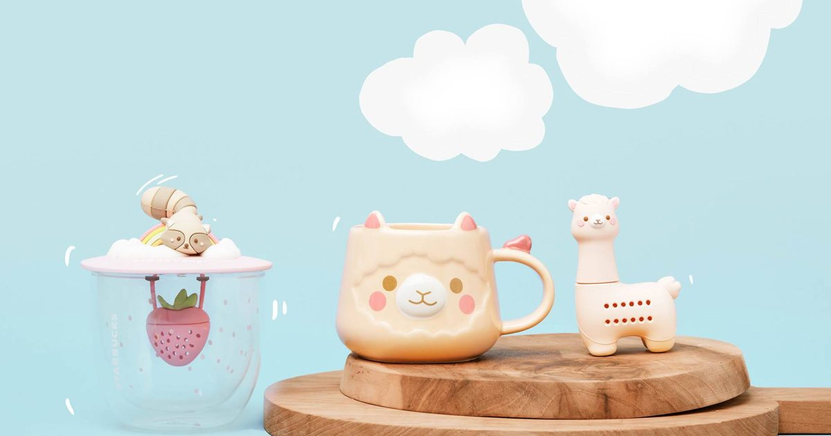Starbucks launches cute beige and pink alpaca-themed merchandise