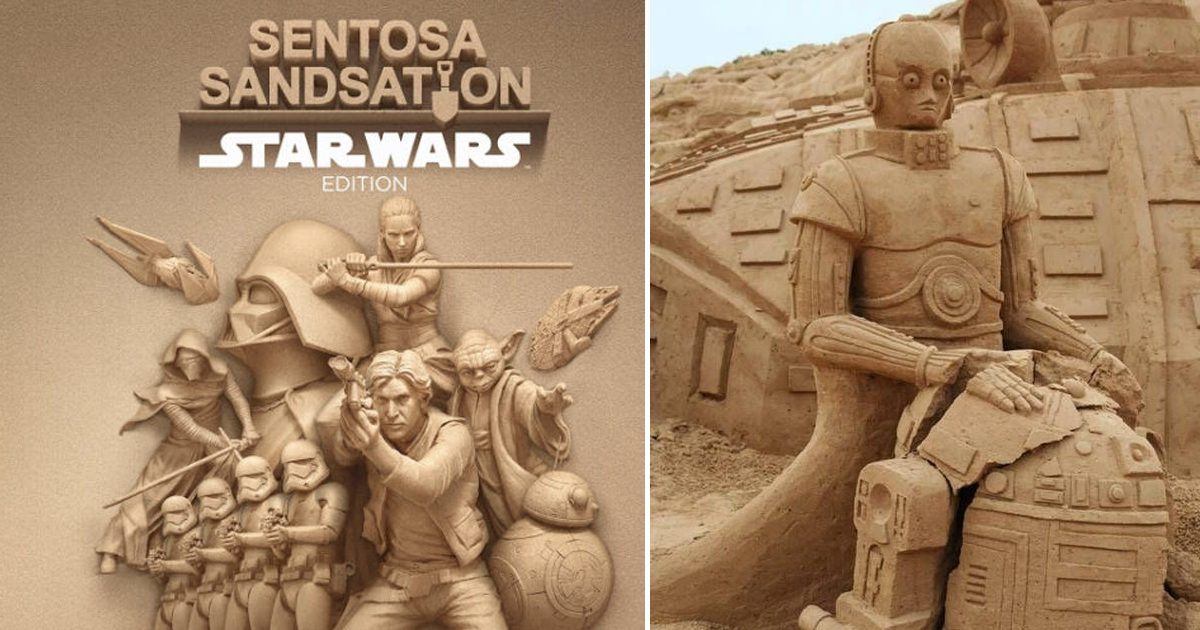 Siloso Beach pays tribute to Star Wars with 20 massive sand sculptures from this weekend