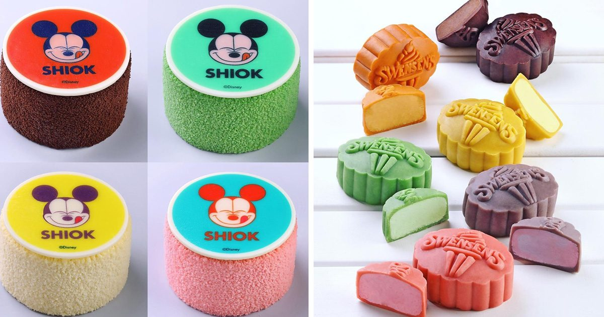 Swensens introduces Local flavor ice-cream mooncakes with Mickey Mouse designs