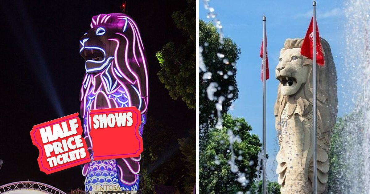 Sentosa Merlion tickets for Singapore citizens & PRs going at half price while senior citizens enjoy free entry