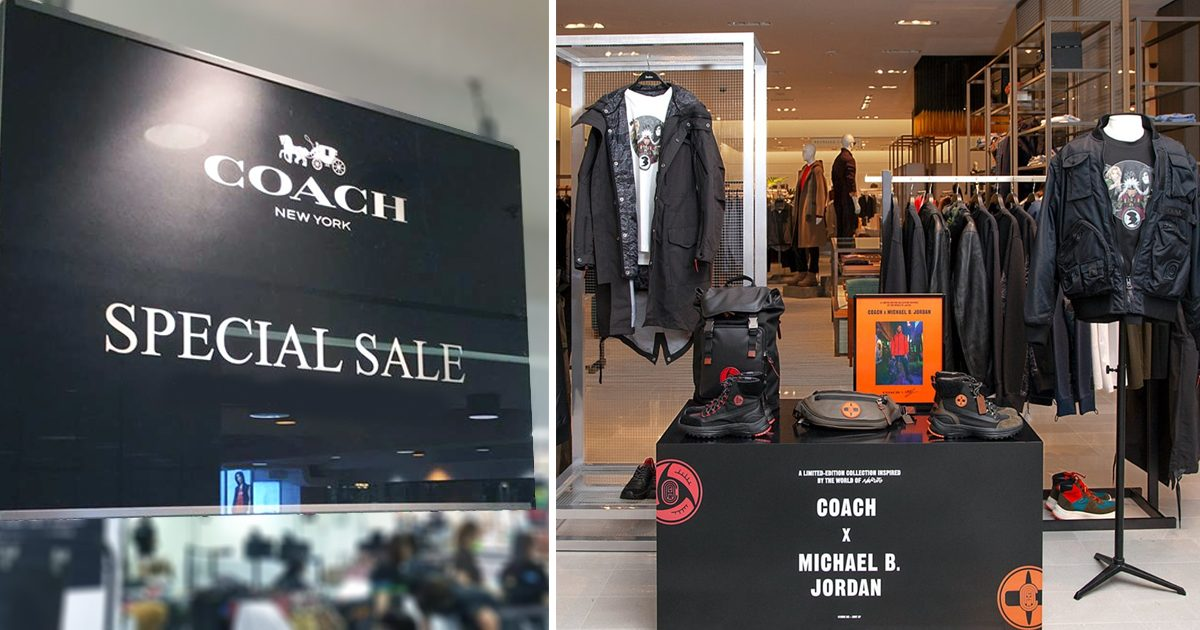 Coach offers up to 50% discount at Takashimaya from now till 4 November 2019