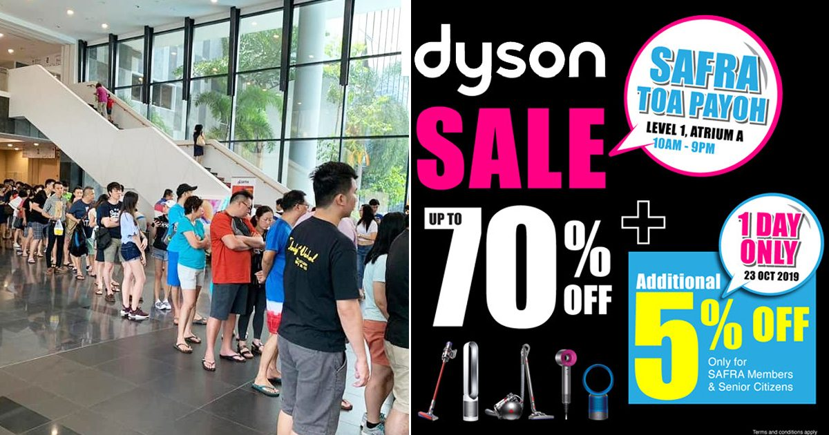 Dyson Mega Sale of up to 70% returns today at SAFRA Toa Payoh
