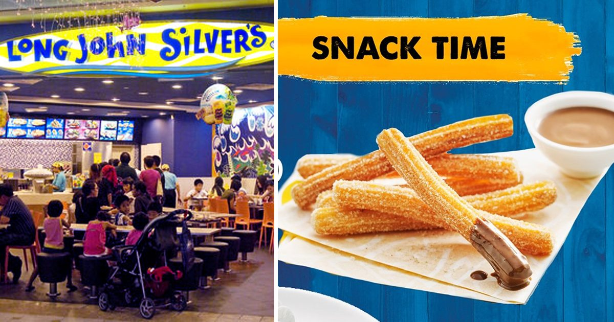 Long John Silver's Singapore selling Cinnamon Sugar Churros with Chocolate Hazelnut Dip from S$2.90 for 6pcs