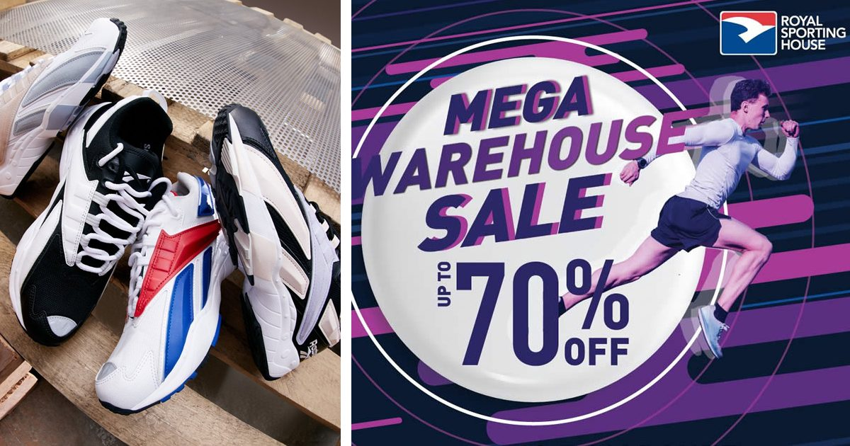 Royal Sporting House Mega Warehouse Sale offering up to 70% discount from 26 October 2019