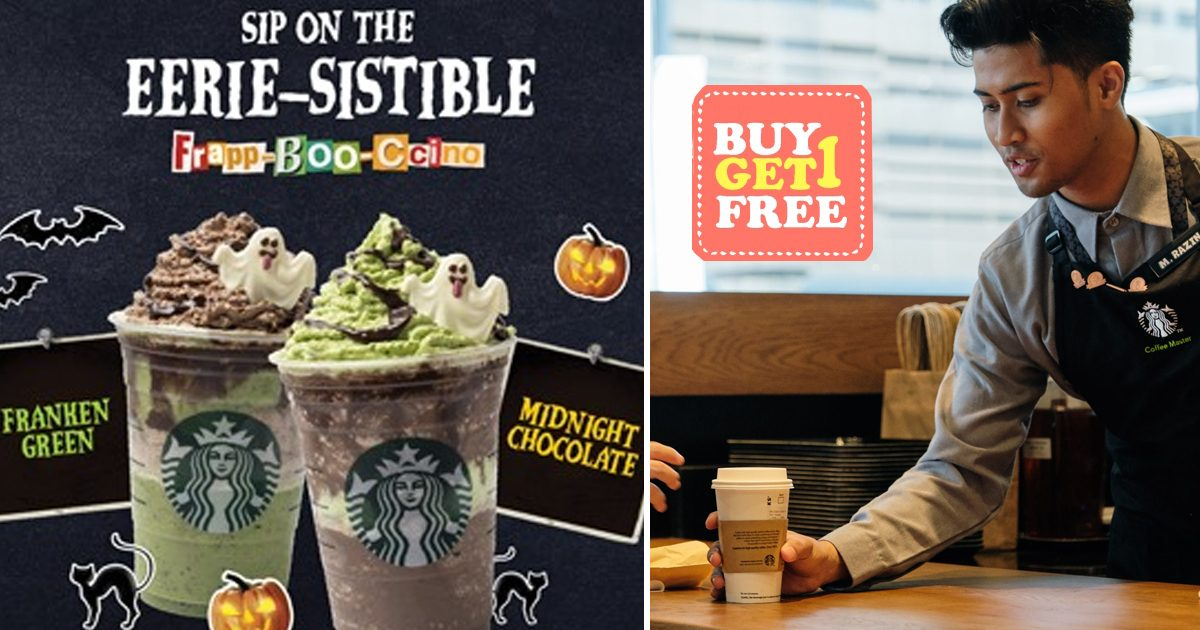 Starbucks One for One on all venti sized drinks from today till 24 October 2019