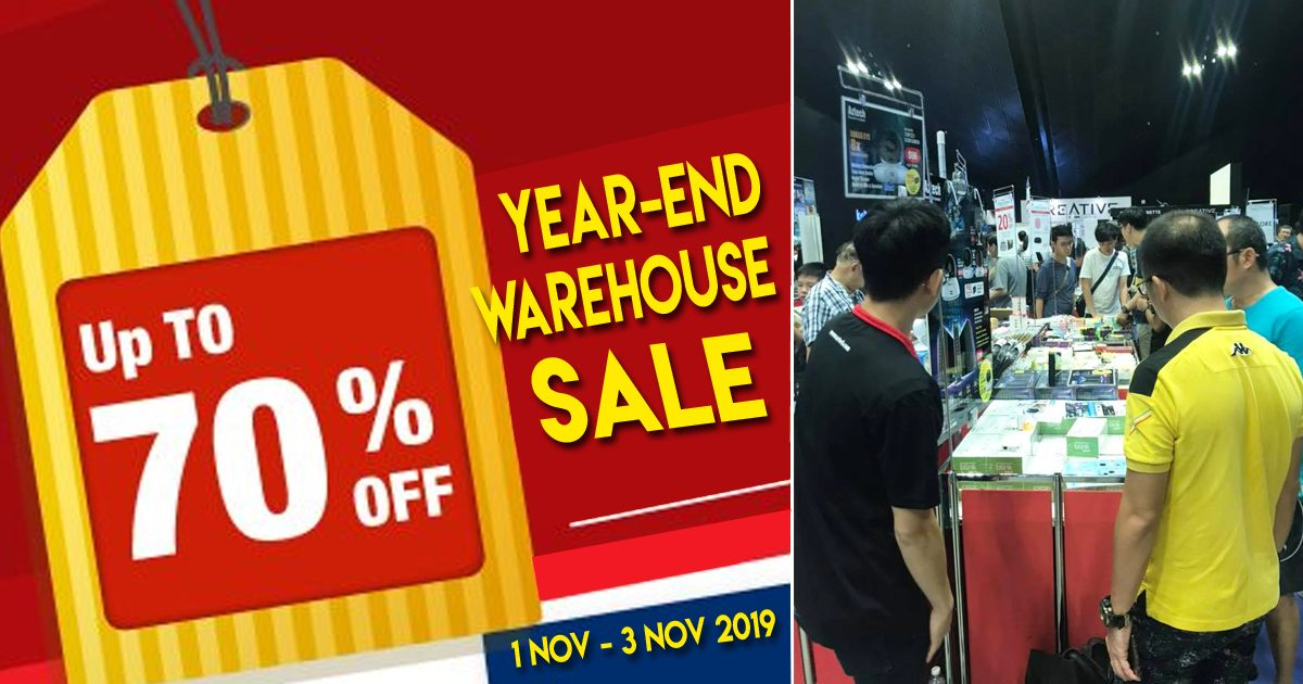 Aztech Warehouse Warehouse Sales Offers discounts up to 70% off