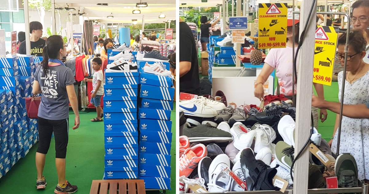 Bedok Town Square Sports Shoe Sale offering more than half price for Nike, Adidas, Puma and Converse