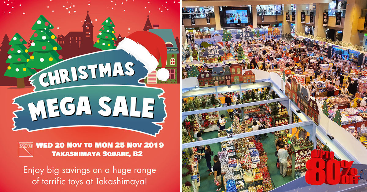 Takashimaya Christmas Sale offering up to 80% discount on toys including Nerf, Disney Princess and more