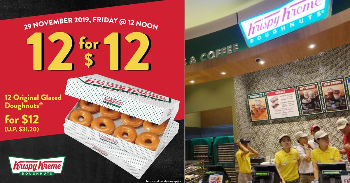Krispy Kreme celebrates Black Friday by offering 12 donuts for S$12