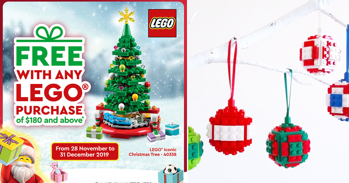 LEGO Company in Singapore running promotions and giving away free Lego Christmas Tree