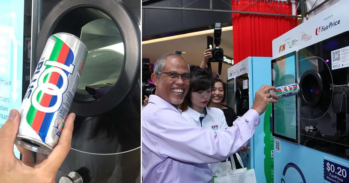 New recycle vending machines dispense S$0.20 NTUC discount coupon with every 4 items recycled