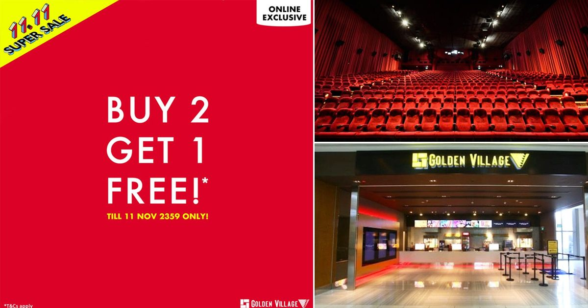 Golden Village offering buy two get one movie ticket free promotion on Single's Day
