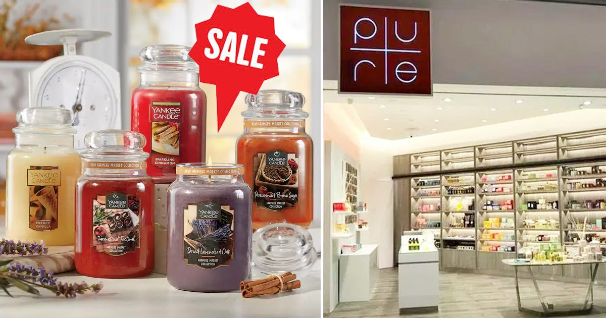 Yankee Candle Sale at Suntec City offering scented candles from S$10