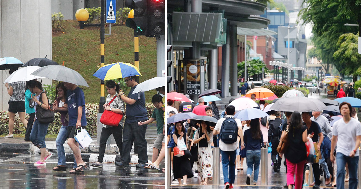 Singapore's cold, wet weather to stay till Mid Jan 2020 with highest temperature at 30°C