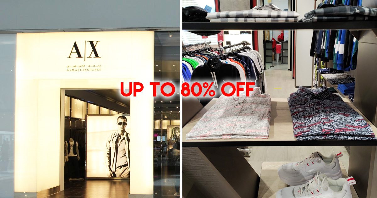 Armani Exchange sales with discounts up to 80% till 5 April 2020