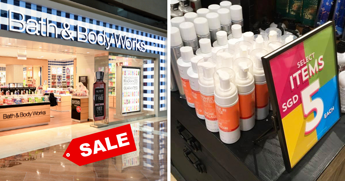 Bath & Body Works Singapore sales with items from S$5