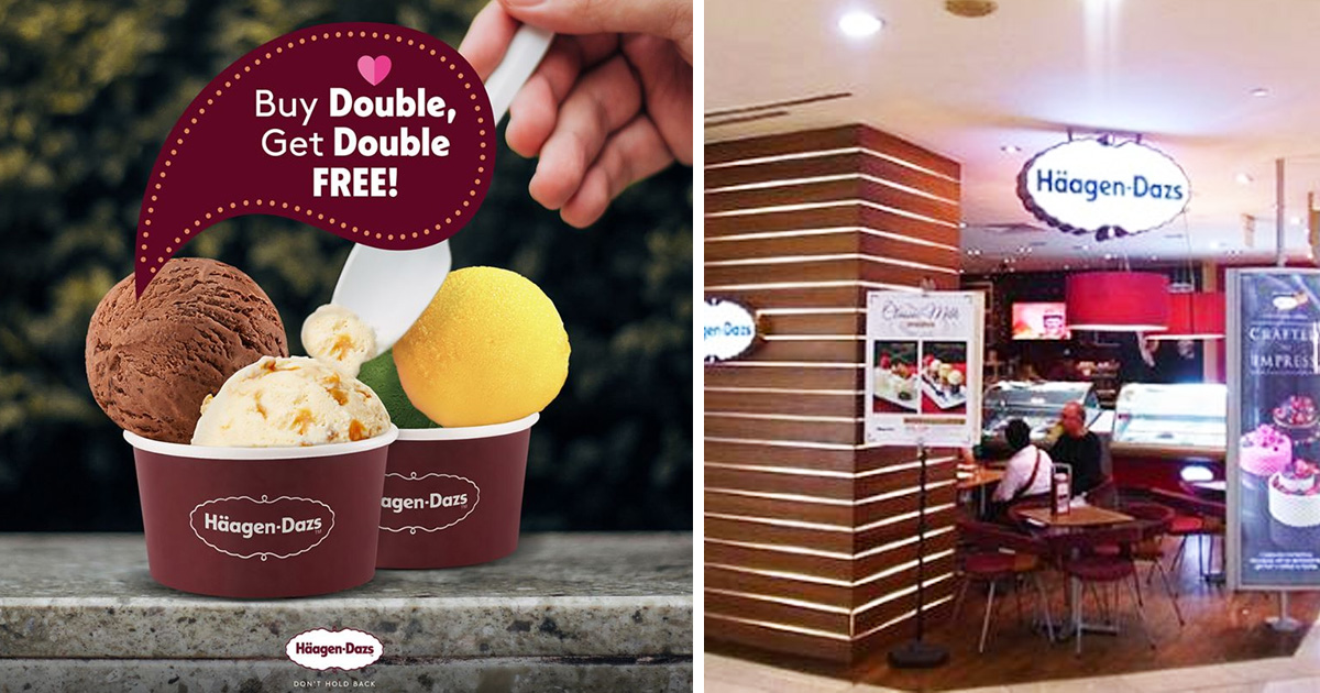 Haagen-Dazs Offers 1-For-1 Double Scoop ice-cream at all outlets, until 27 Nov 2020
