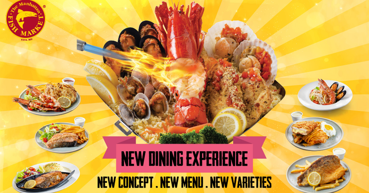 Present these eVouchers from The Manhattan FISH MARKET Singapore to enjoy these deals