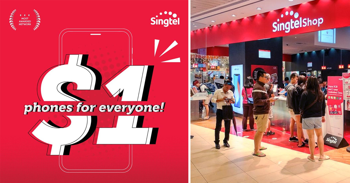 Singtel offers S$1 phone for Huawei P30 Pro, Samsung Galaxy S10+ and more for new sign-ups or re-contract