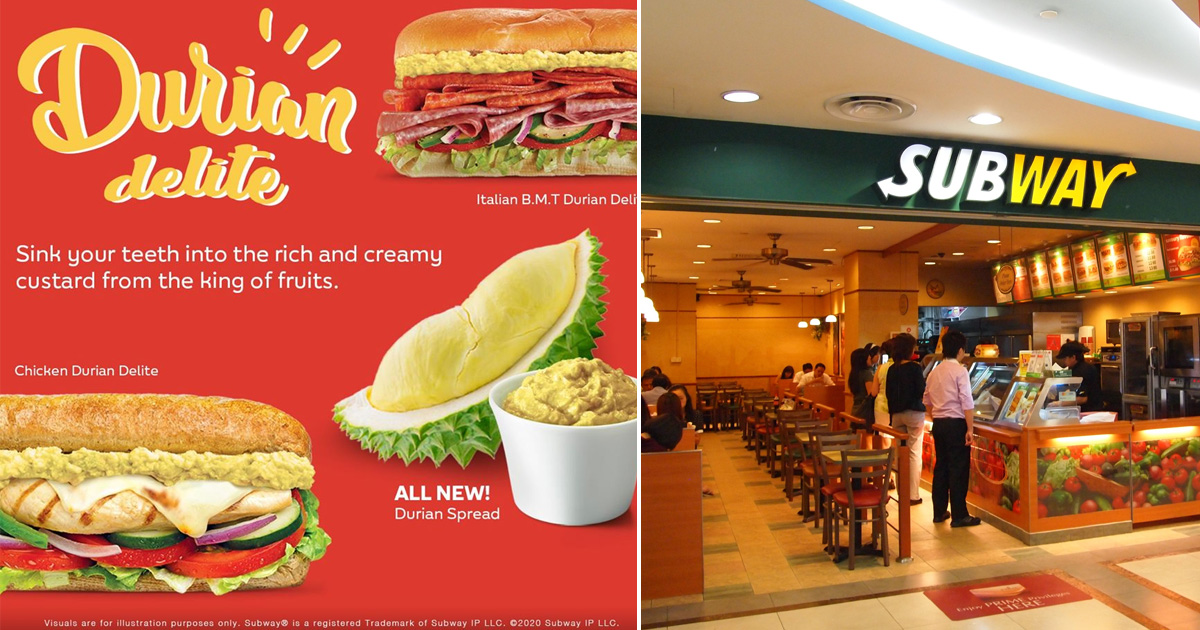 Subway Singapore introduces brand new Durian Delite Sandwiches