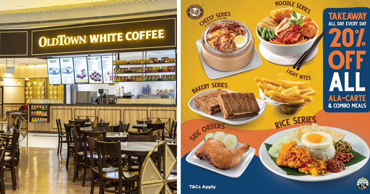 Circuit Breaker Promotion: Old Town White Coffee offers 20% discount all ala carte & Combo Meals