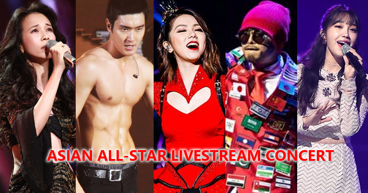 Asian All-Star Online Concert featuring Gem Tang, Karen Mok, Siwon Choi and more, 27 May 2020