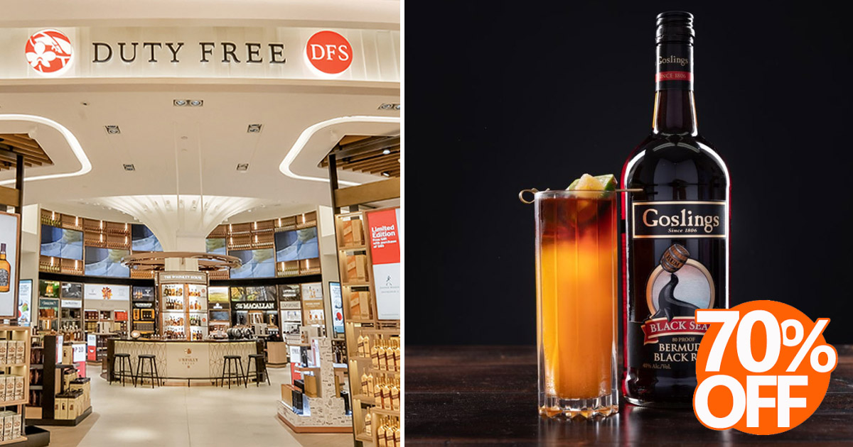DFS Changi offers up to 70% discount on selected wine and spirits