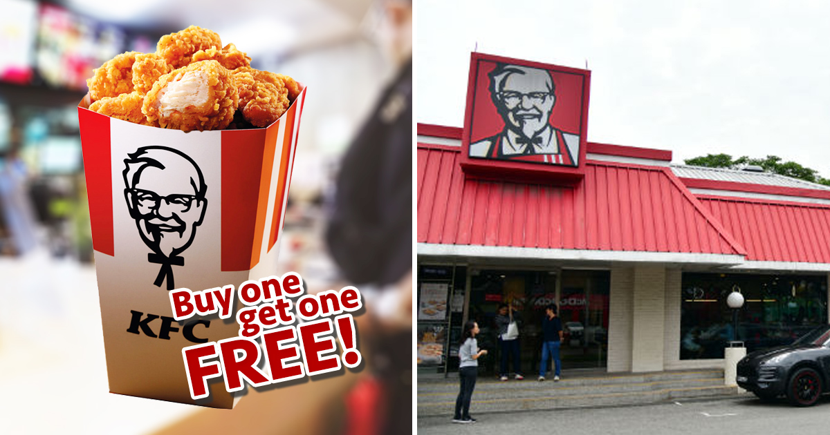 KFC Singapore offers 1 for 1 Popcorn Chicken for DBS/ POSB Card holders