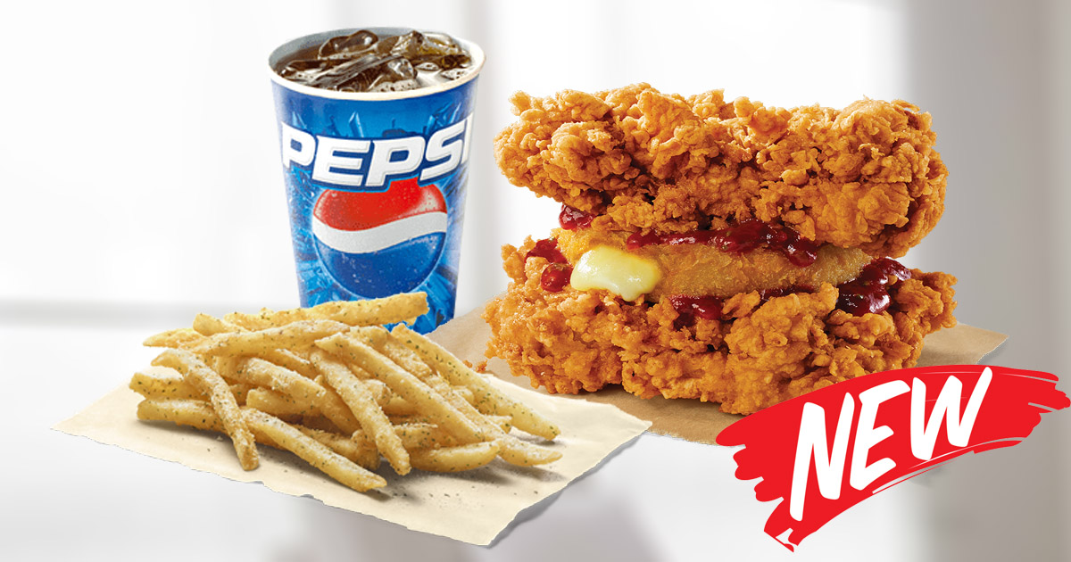 KFC Offers 1-for-1 Mozzarella Zinger Double Down Burger Promotion for 2 days ONLY