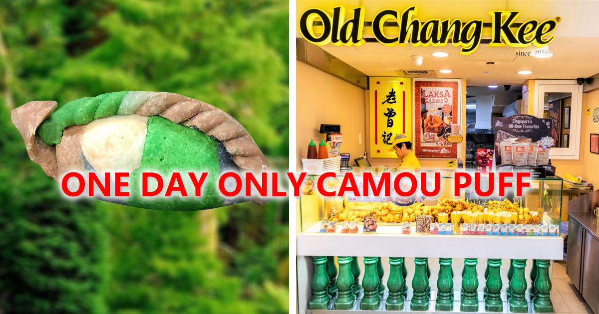 Old Chang Kee celebrates SAF Day with brand new 'Camou Curry Puff'
