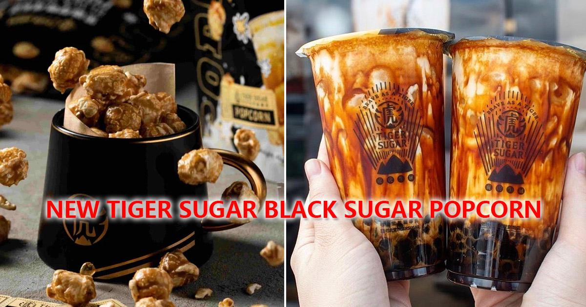 Tiger Sugar launches new Tiger Sugar Black Sugar Popcorn at S$3.90