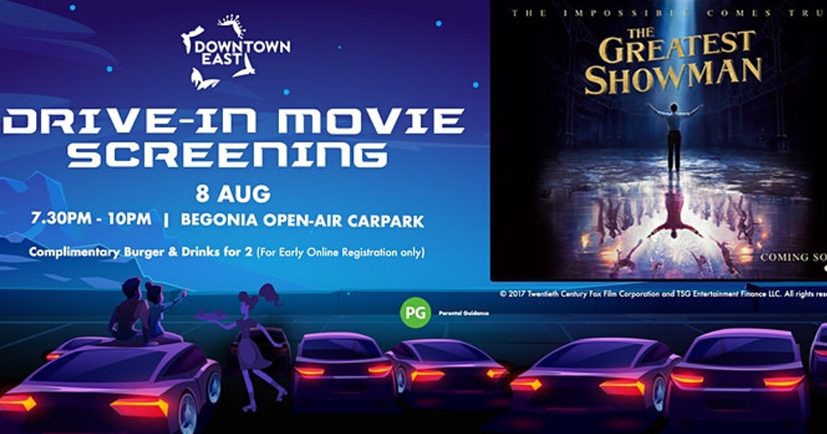 Downtown East cancels Drive-in Movie Screening on 8 August 2020