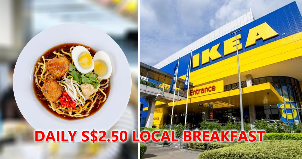 IKEA Alexandra Offering S$2.50 breakfast, featuring different dish each day
