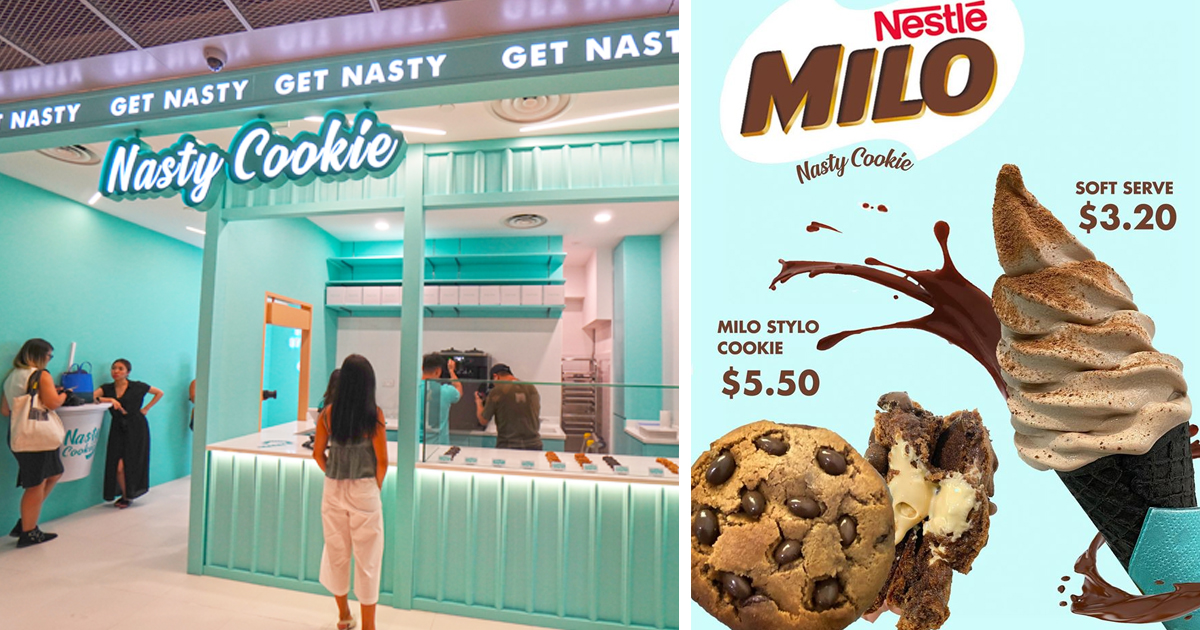 Local cookie store celebrates National Day with S$3.20 Milo soft-serve & S$5.50 Milo Cookies