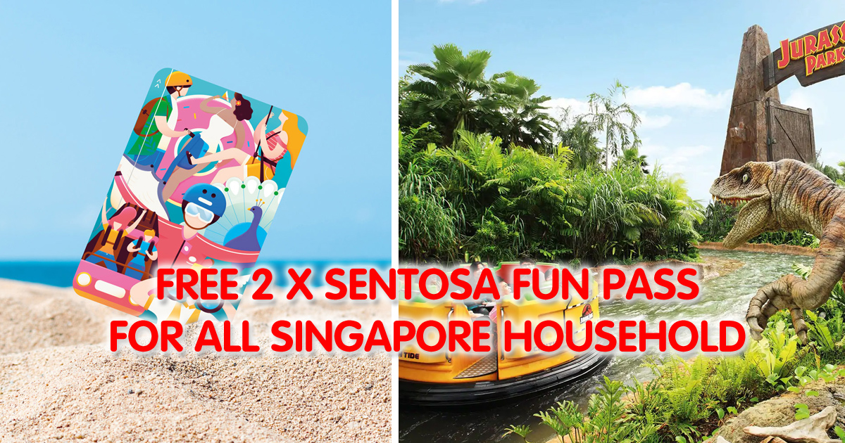 Sentosa giving each Singapore household two Sentosa Fun Passes to celebrate National Day