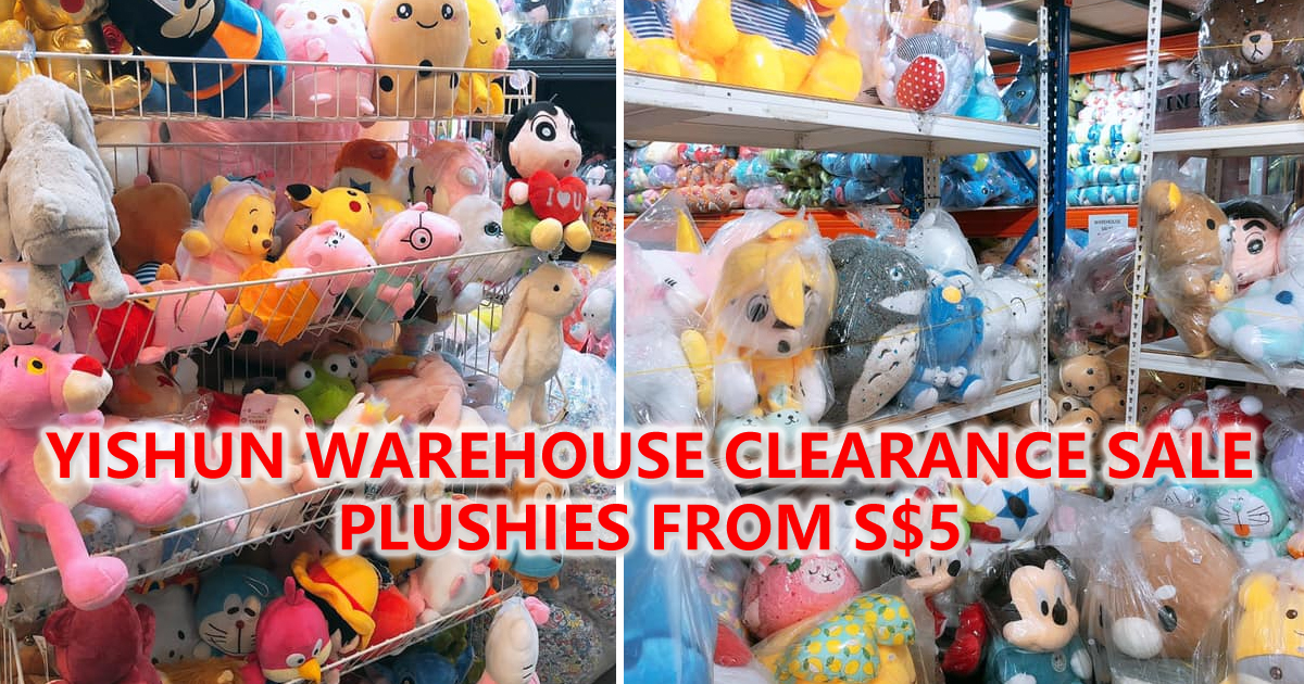 Yishun Warehouse Clearance Sale, plushies and toys up to 70% OFF