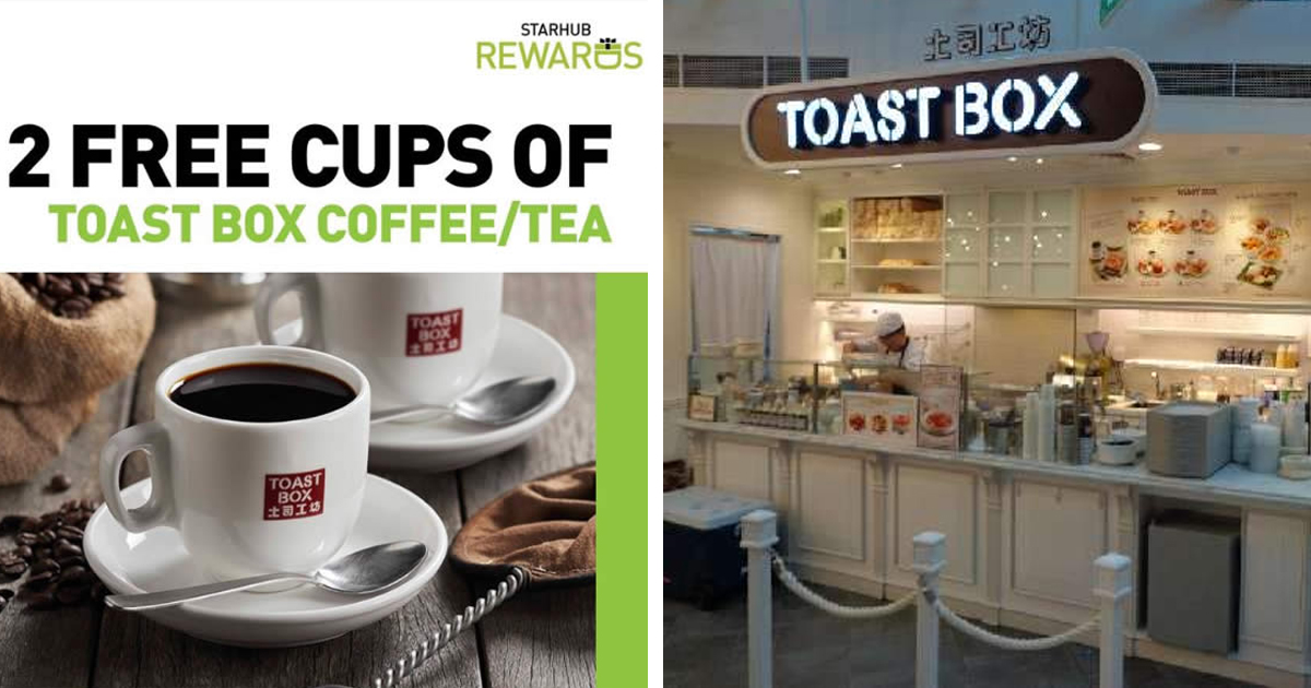 ONE DAY DEAL: Toast Box Offering StarHub customers two free cups of coffee or tea on 8 Aug 2020