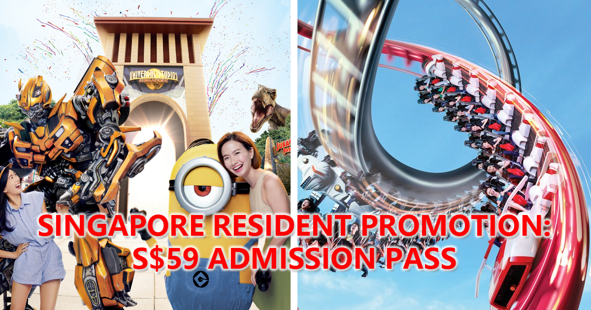 Universal Studio Singapore Offering Singapore residents One-day adult admission pass at S$59, comes with FREE LiHO drink
