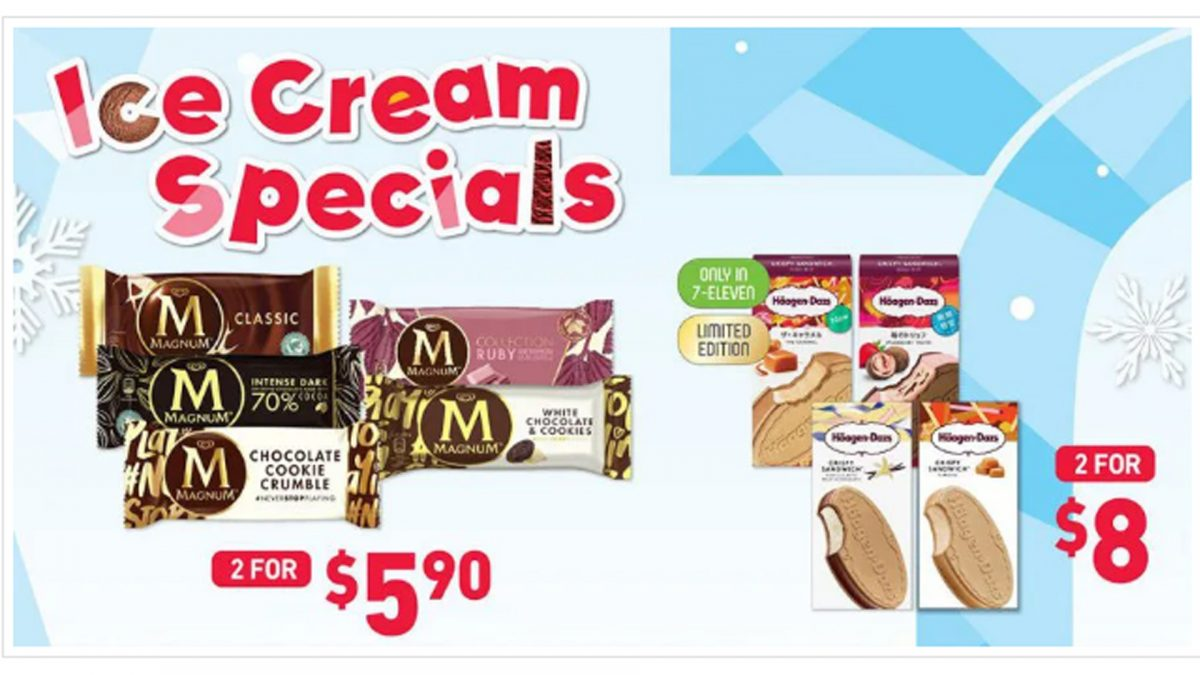 7-Eleven brings back Ice Cream Sale from S$1, includes Magnum, Häagen-Dazs, Paddle Pop & more