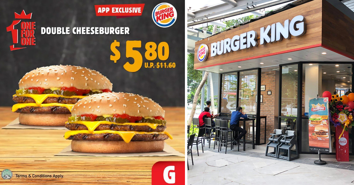 Burger King unveils eight 1-For-1 deals for September 2020, from S$1.90