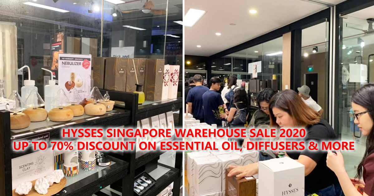 HYSSES Warehouse Sale from 9 – 12 Sept 2020, UP to 70% OFF essential oil, diffusers & more