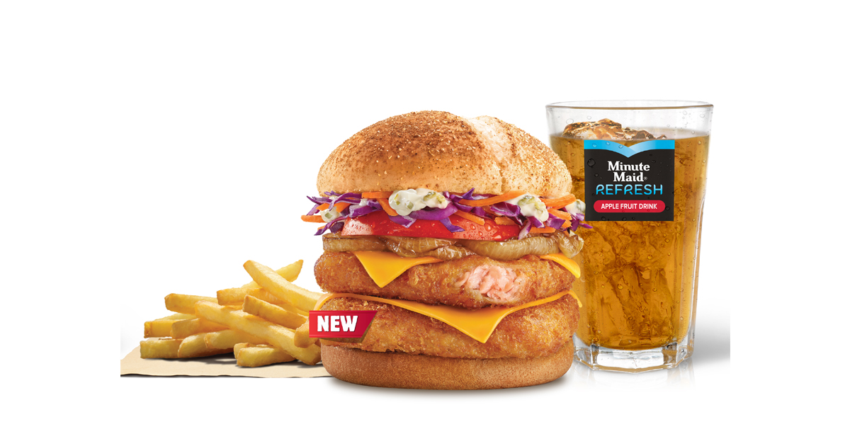 Burger King Singapore introduces new double salmon burger & Belgain Chocolate Soft-serve to its menu