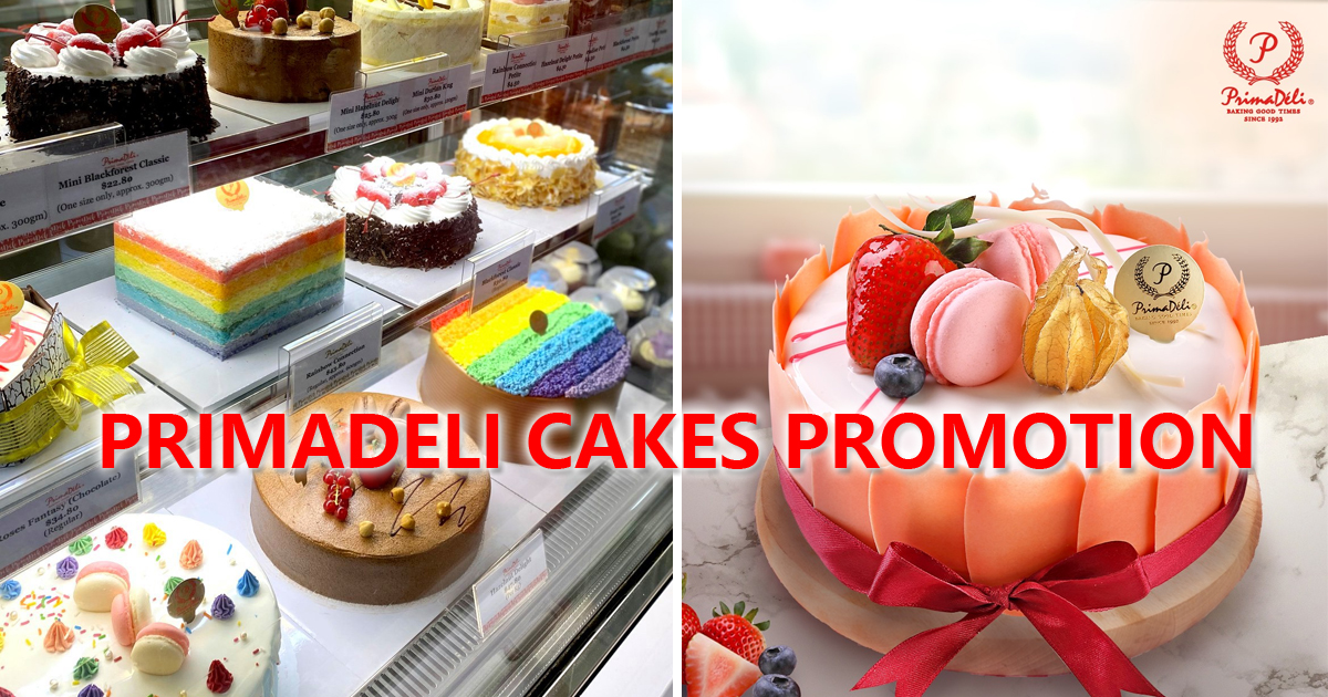 PrimaDeli celebrates 28th anniversary by offering its 1kg cakes at S$28, usual price S$43.80