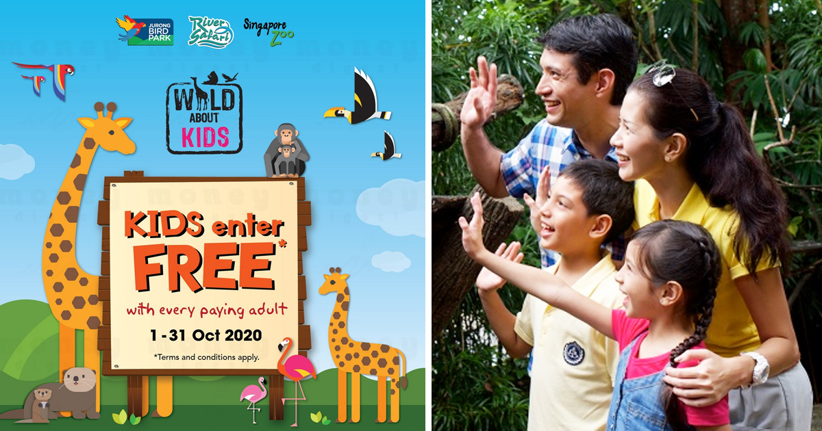 Free entry for kids to Singapore Zoo, River Safari & Jurong Bird Park for October 2020