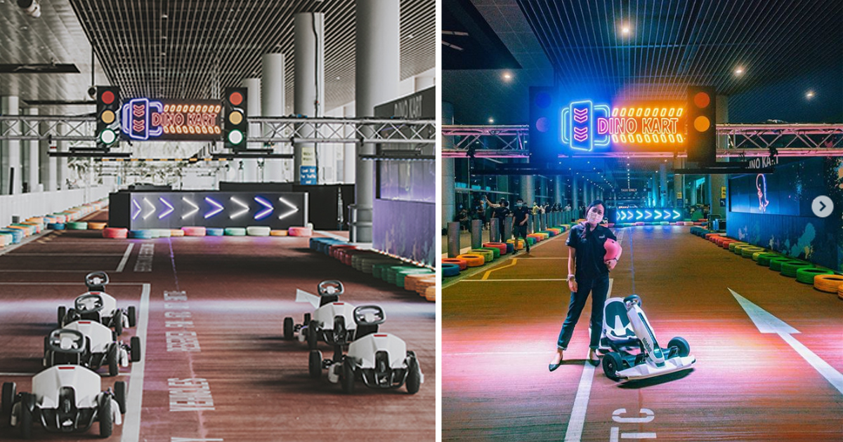 Changi Airport T4 converted into a Dinosaur-themed go-kart, admission from S$12