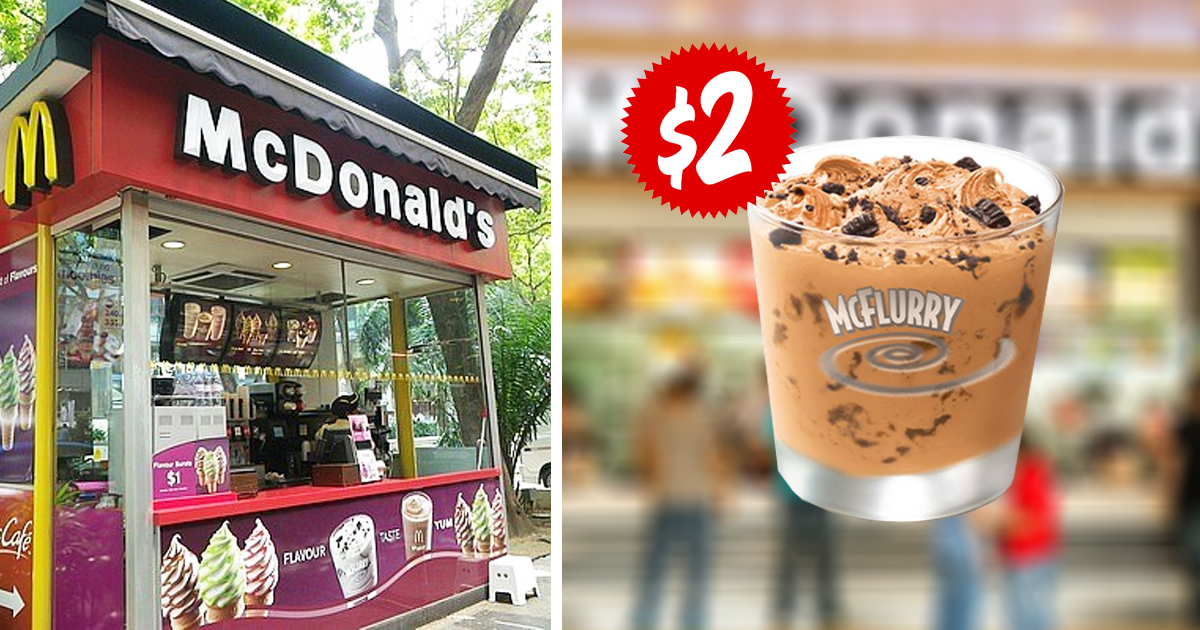 McDonalds Singapore offers new Yuanyang McFlurry at only S$2, until 16 Dec 2020