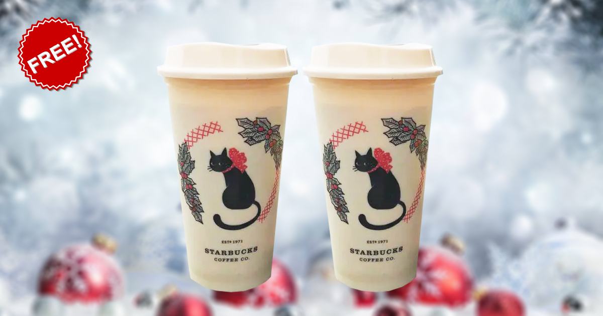 Starbucks Singapore giving away FREE Christmas Reusable Cup with minimum purchase of S$10 on 17 Nov