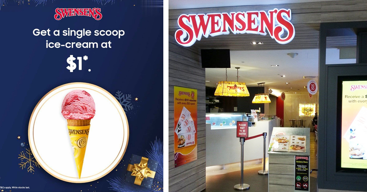 Swensen's Singapore ushers in Christmas with S$1 single scoop ice-cream promotion