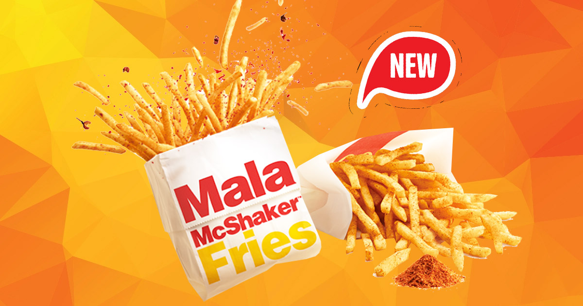 McDonald's S'pore ends the year with the launch of Mala McShaker Fries tomorrow, 31 Dec 2020